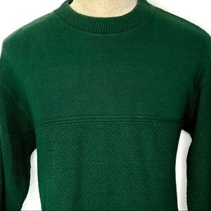 Vintage LEE Crewneck Sweater Made In USA Green